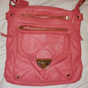 Pink Salmon Color Crossbody Bag by Icing